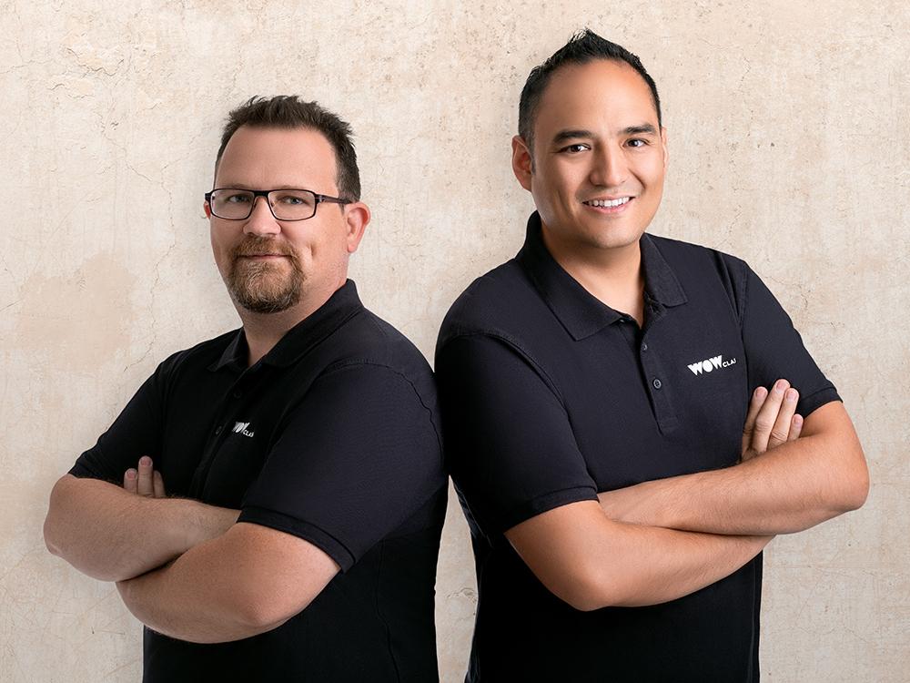 WOW Class Gründerteam Michael Wegmüller und Nicolas Bächtold